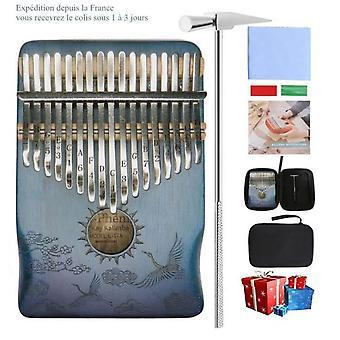 Kalimba duim piano 17 toetsen met mahoniehouten hamer en muziekboek perfect voor muziekliefhebber beginners kinderen