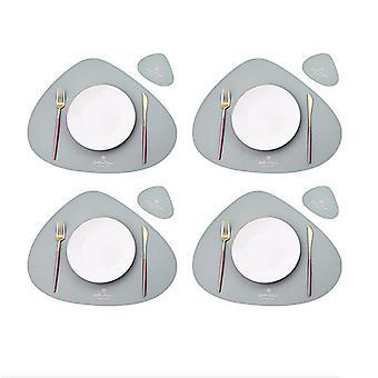 8 helytörlő asztalszőnyeghez, hőálló, csúszásmentes, mosható és hőszigetelő kávészőnyegek, konyhai helytörlők, északi stílusú placematok (tabl)