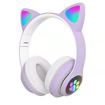 Hörlurar Cat Ear trådlös hörlurar led tänd Bluetooth hörlurar