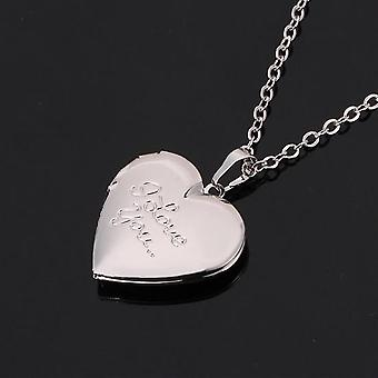 """Fashion Jewelry Women Gift Gold Color Choker Chain Locket """"I Love You"""" Romantic Heart  Necklace"""
