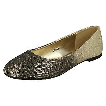 Dames plek op Slip op Ballerina schoenen F80133