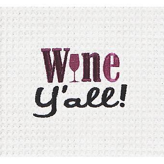 Wina Yall haftowane wafel splot 27 calowy kuchnia Ścierka