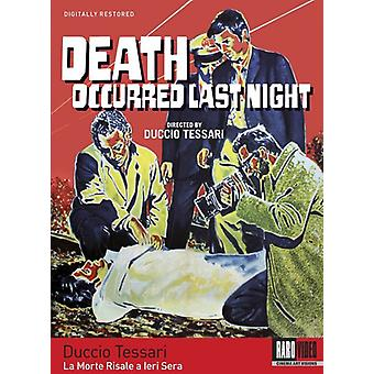 Death Occurred Last Night [DVD] USA import