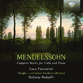 F. Mendelssohn - Mendelssohn: Kompletta verk för Cello & Piano [CD] USA import