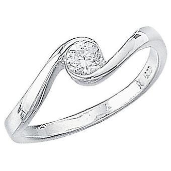 خاتم الزركونيا فضة 925