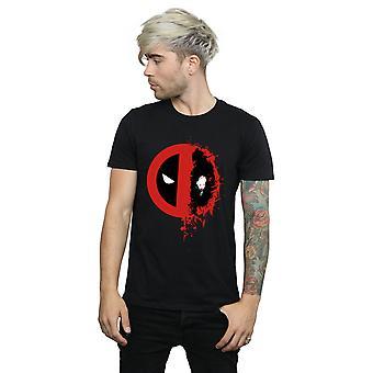 مارفل الرجال & apos;ق Deadpool سبليت Splat شعار تي شيرت