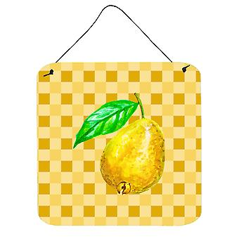 Carolines Treasures  BB7230DS66 Guava on Basketweave Wall or Door Hanging Prints