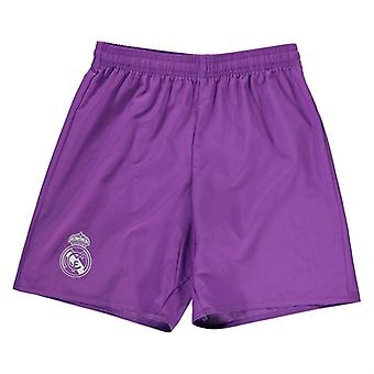 2016-2017 Real Madrid pantaloni scurți Adidas away (Purple)-copii