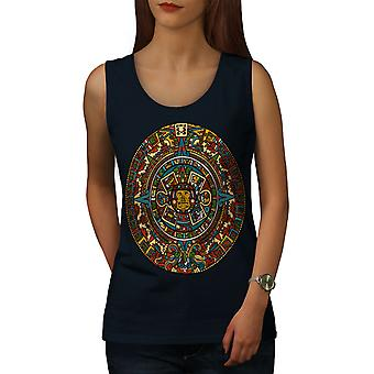 Aztec Traditional Women NavyTank Top | Wellcoda