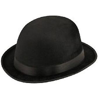 Chapeau melon noir velours
