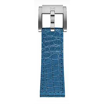 TW Steel Marc Coblen armband horloge band 22 MM Croco lederen LB_BL_K_S blauw