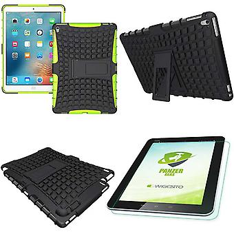 Hybrid outdoor protective cover green for iPad Pro 9.7 bag + 0.4 H9 tempered glass