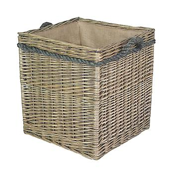 Square Rope Handled Storage Basket