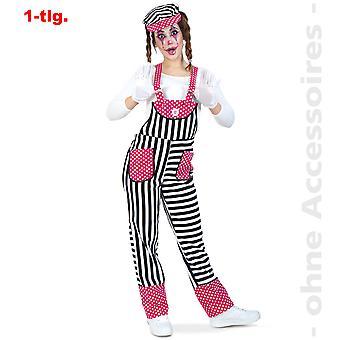 Slabbetje Lady kostuum clown kostuum dames Clownhose