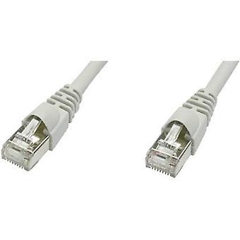 Telegärtner RJ45 L00006D0079 Nettverkskabel, patchkabel CAT 5e F/UTP 20,00 m Grå flammehemmende, inkl.