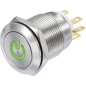 TRU コンポーネント LAS1-GQF-11/G/12 v プッシュ ボタン 250 V AC 3 1 On/(On) IP65 x 瞬間 1 pc(s)
