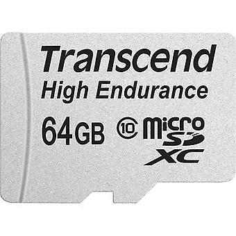 Transcend High Endurance microSDXC kaart 64 GB Class 10 SD incl. adapter