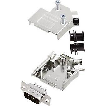encitech D45ZK09-DBP-K 6355-0003-01 D-SUB-nastainen nauha sarja 45 ° nastojen luku määrä: 9 juotos ämpäri 1 sarja
