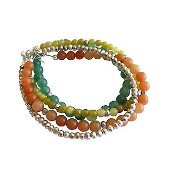 Conjunto de pulseiras de pedras preciosas 4 pulseiras pulseira conjunto aventurina verde jade pirita