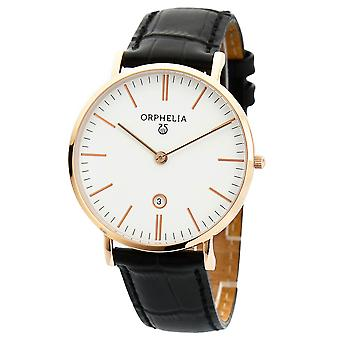 ORPHELIA Mens Analogue Watch Simplicity Black Leather OR61508