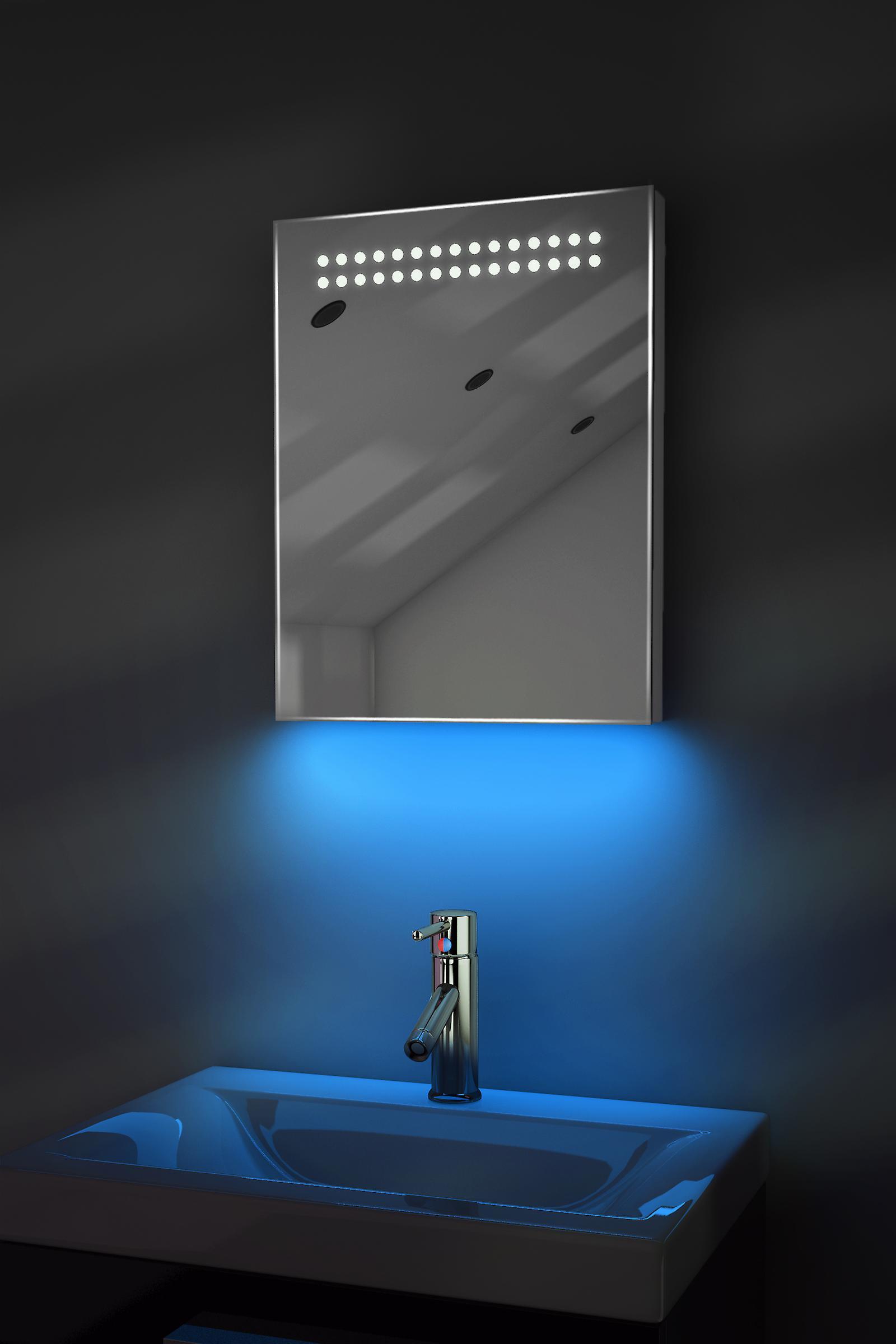 Auto couleur changement Rgb ultra-Slim miroir avec désembuage & K8Rgb capteur