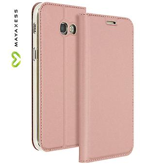 Mayaxess Skin Series Flip case, standing case for Samsung Galaxy A3 2017 - Pink