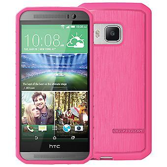כפפת גוף סאטן מקרה HTC אחת M9-סאטן ורוד