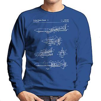 Space Shuttle Patent Blueprint Herren Sweatshirt