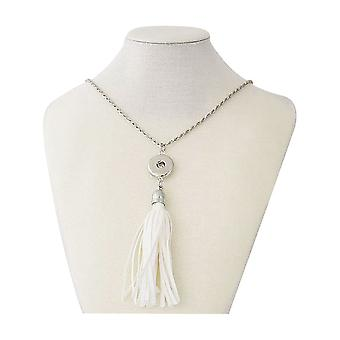 Stainless steel necklace with pendant for click buttons Size 42 cm