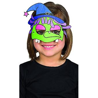 Child mask witch Funny Halloween Carnival accessory