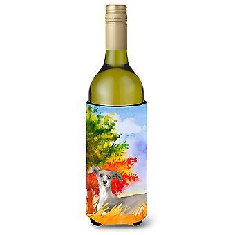 Caduta levriero italiano bottiglia di vino bevanda isolante Hugger