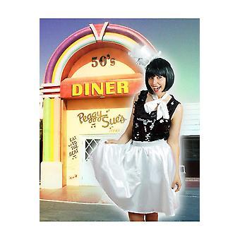Tutu petticoat winkel vrouwen wit retro rok en sjaal