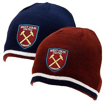 West Ham United FC officielle voksne Unisex Reversible strikket Hat
