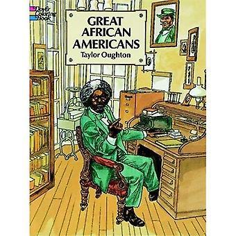 Bra afroamerikaner målarbok (Dover målarbok)
