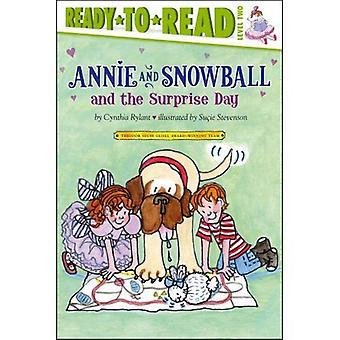 Annie och snöboll och överraskning dagen