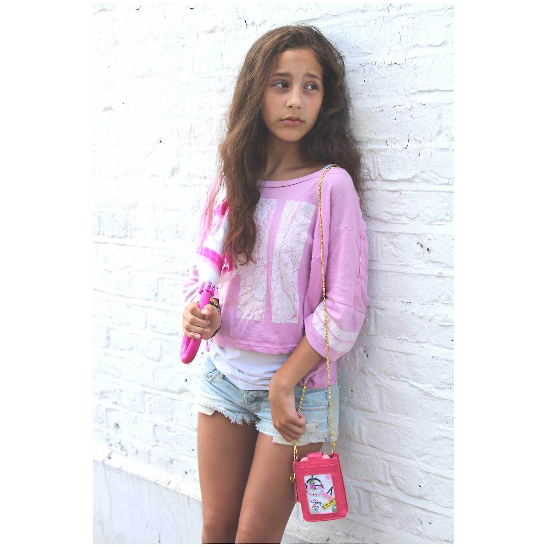 Rosa Clippy Moc Croc Handy Tasche