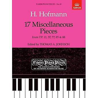 17 verschiedene Stücke aus op. 11, 37, 77, 85 & 88: einfacher Klavier Stücke 49 (leichter Klavierstücke (ABRSM))