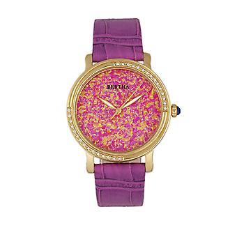 Bertha Courtney Opal Dial kožené-Band hodinky-Hot Pink