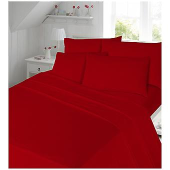 Plain Brushed Cotton Duvet Quilt Cover Cosy Warm Flannelette Flannel Bedding Set