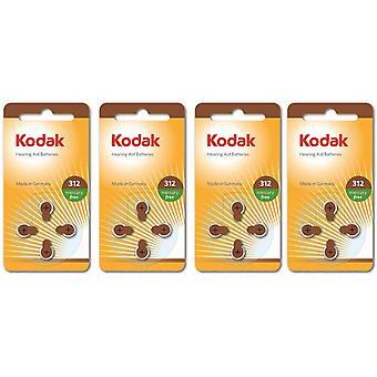 16-pack Kodak Zinc-Air Hearing Aid Baterias 312, A312, PR41