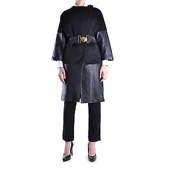 Balizza Ezbc206001 Damen's Schwarz synthetische Fasern Mantel