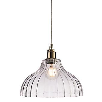 Firstlight-1 Light Ceiling Pendant Antique Brass, Clear Glass-7648AB