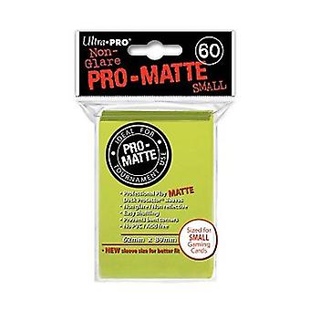 Ultra Pro Matte Card maniche-giallo brillante