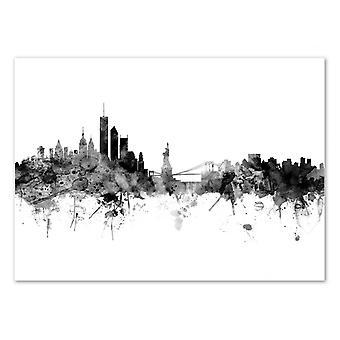 Art-Poster - New York Skyline - Michael Tompsett