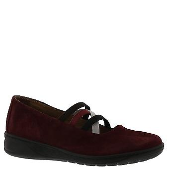 David Tate Womens Mika Leather Round Toe Loafers