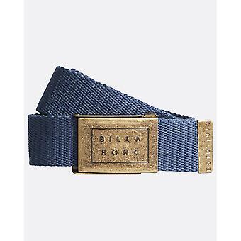 بيلابونغ المنسوجة القطن حزام ويب مع فتاحة زجاجة ~ الرقيب الأزرق الداكن