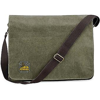Royal Gloucestershire Berkshire Wiltshire Regiment - Licensed British Army Embroidered Vintage Canvas Despatch Messenger Bag