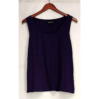 Gramercy 22 Sweater Hacci Knit Scoop Neck Tank Purple Womens A411536