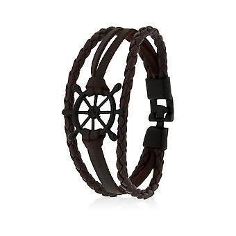 Skipper Bracelet Bracelet Bracelet Bracelet Bijoux Navire Gouvernail en Brun 8131