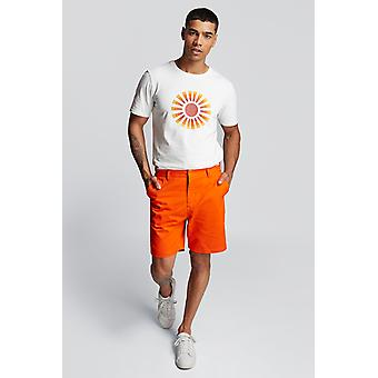 Hymn Hedley Twill Chino Shorts Orange